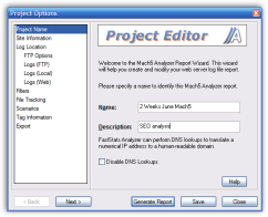 Powerful project editor.